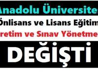 Anadolu Üniversitesi Önlisans ve Lisans Eğitim-Öğretim ve Sınav Yönetmeliği 2018