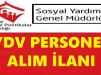 SYDV KPSS 60 Puanla Sosyal Yardım ve İnceleme Görevlisi Alımı