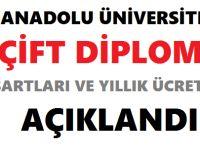 Anadolu Üniversitesi Çift Diploma Şartları 2018