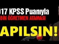 Atama Bekleyen Öğretmenlerin Talebi: 2017 KPSS Puanıyla 40 Bin Atama