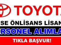 Toyota Türkiye en az lise mezunu 2020 personel alımı