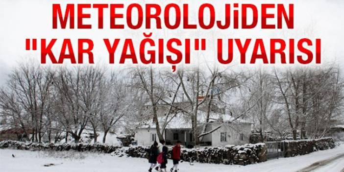 Kar İstanbul'un kapısına dayandı! Meteoroloji'den 3 il için uyarı